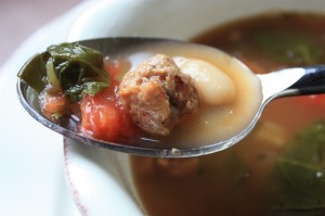 Sausage and Spinach Soup