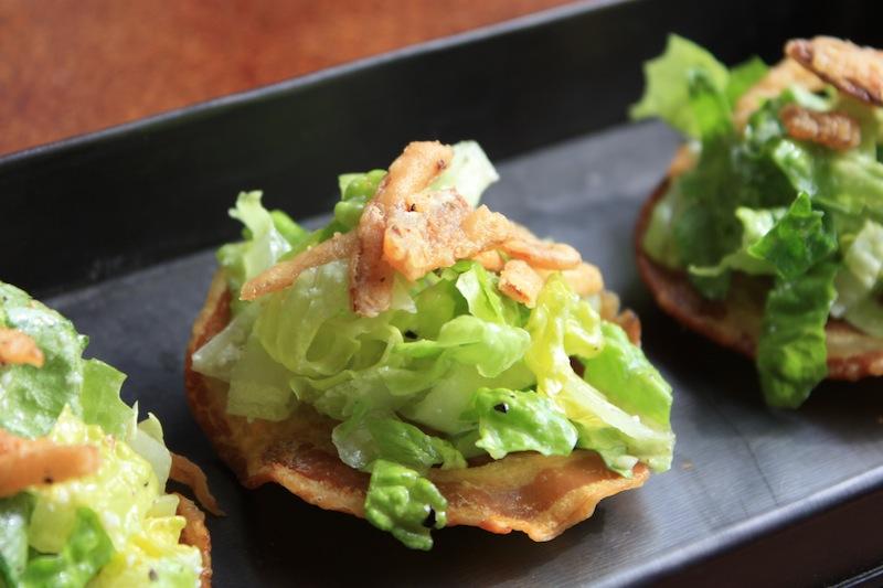 Caesar Salad Pancetta Cups