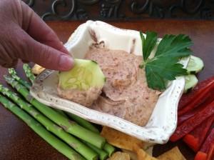 Roasted Garlic Red Bean Hummus