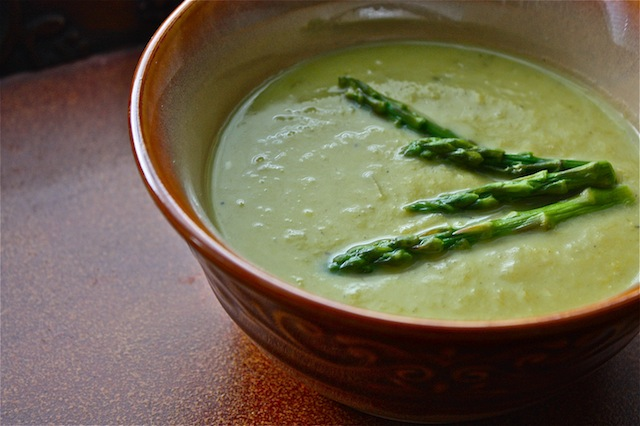 New Orleans Roasted Asparagus Soup