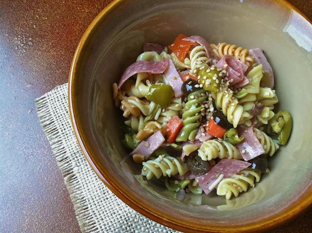 Muffuletta Pasta Salad