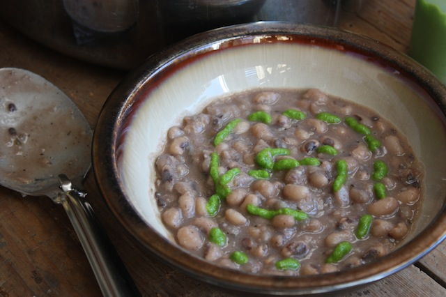 Black-Eyed Peas with Jalapeno Oil