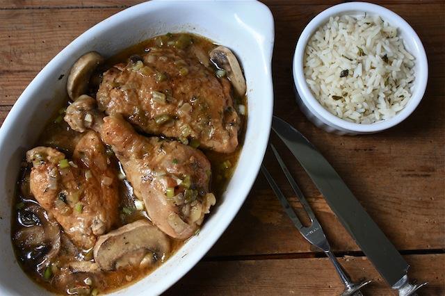 Stewed Chicken in Brown Gravy