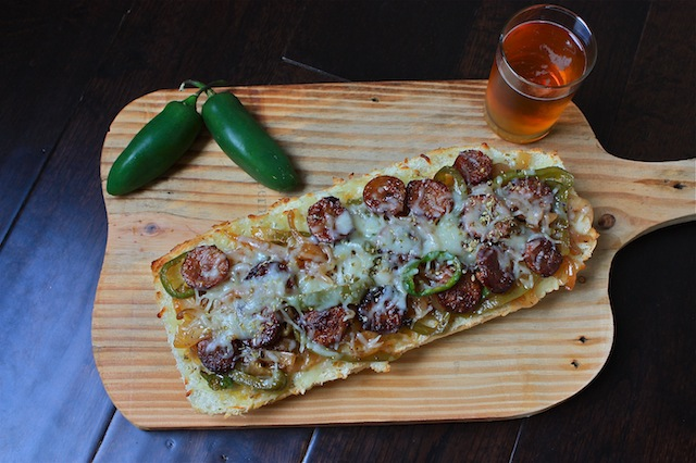Andouille French Bread Pizza