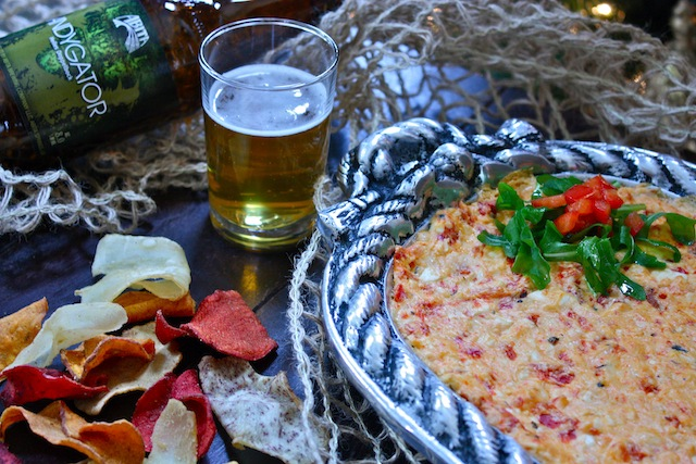 Three Cheese Roasted Red Pepper Dip