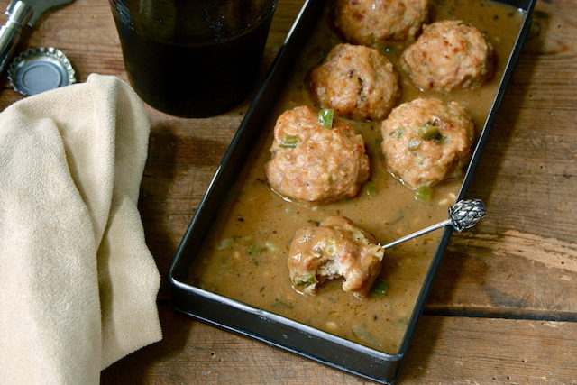 Chicken and Andouille Cocktail Meatballs Recipe
